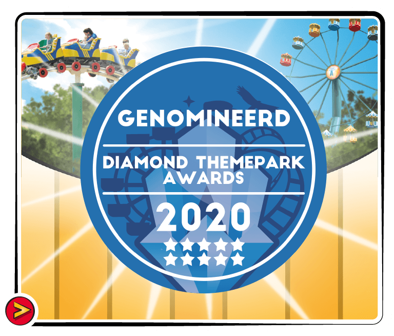Julianatoren is genomineerd voor twee awards van de Diamond Themepark Awards; Beste Kinderpark en Beste Personeel.  Stem je mee?